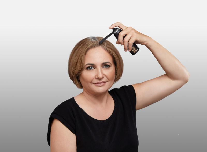 תרסיס לכיסוי מידיי של שורשי השיער
